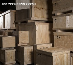 Wooden cargo boxes